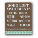 Optima Office Sign 10 x 12