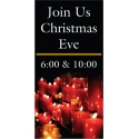 Christmas Candle Boulevard Banner