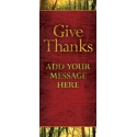Josh Feit Give Thanks Display Banner
