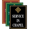 Service In Chapel Sign