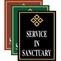 Service In Sanctuary Sign