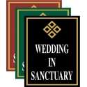 Wedding In Sanctuary Sign