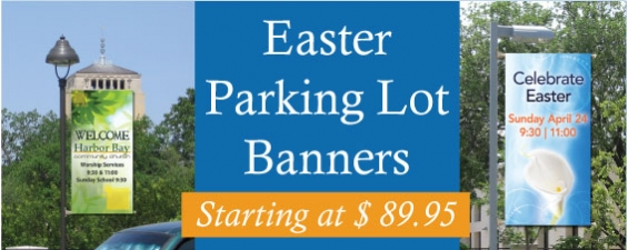 Easter Parking Lot Banners