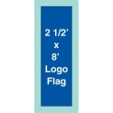 2.5 ft.  x 8 ft.  Drape Logo Flag